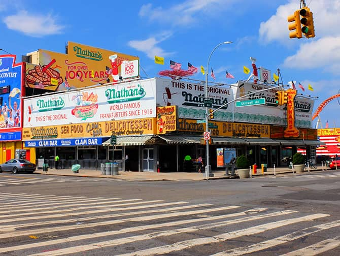 Coney Island in New York - Nathan's Hot Dog