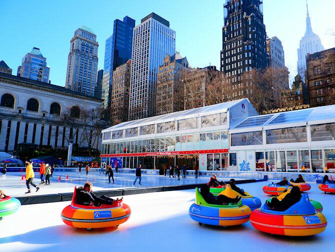 Skating in New York - Bryant Park Rink