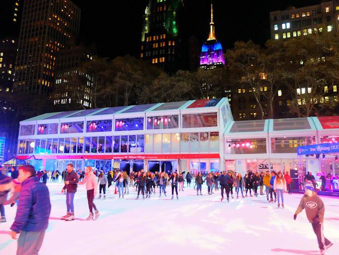 Skating in New York - Bryant Park