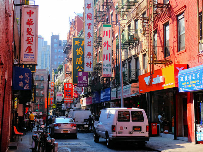 Chinatown in New York - Typical Buildings