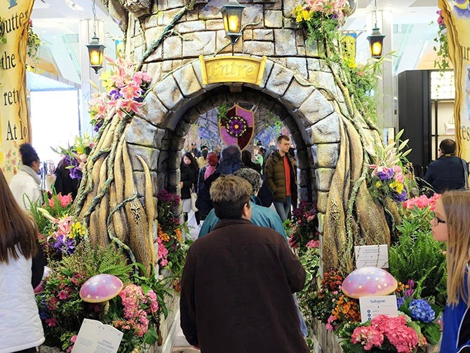 Macy's in New York - Flower Show Decorations