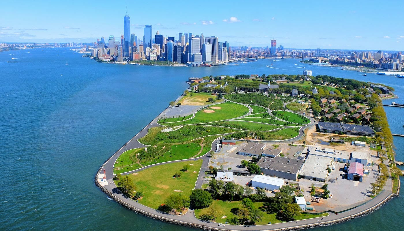 Governors Island New York - Aerial View