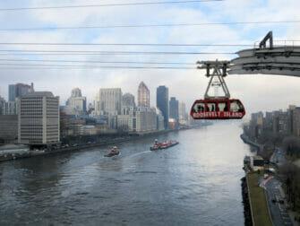Roosevelt tram from Queens Boro Bridge in New York