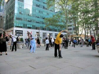 Tai Chi in Bryant Park in New York