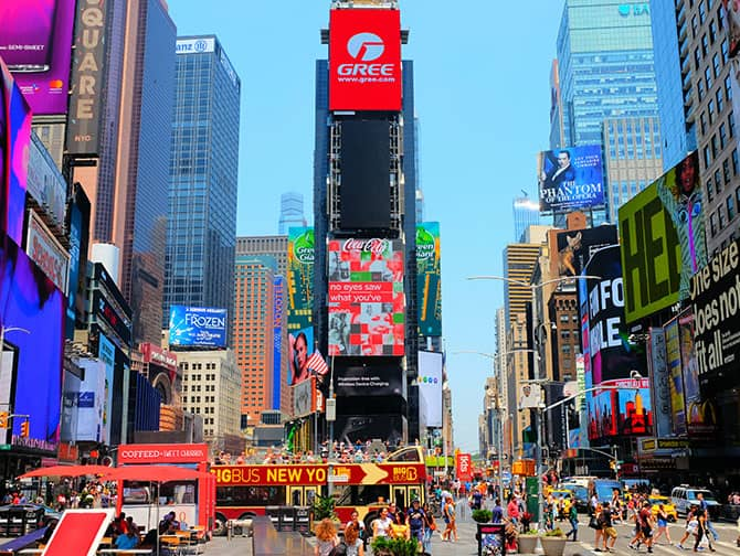 Times Square in New York - Billboards