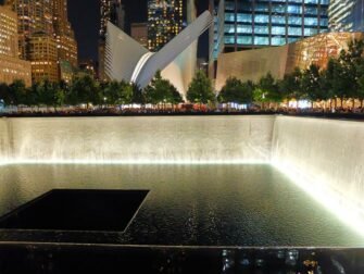 9/11 Memorial by night in New York