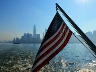 Ellis Island in New York - View to Manhattan