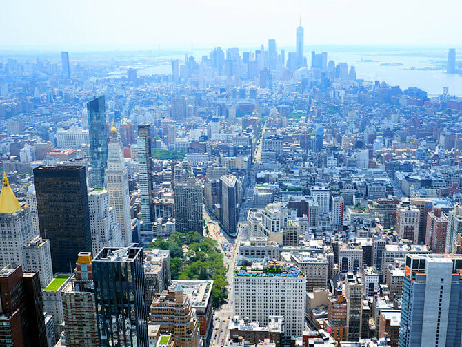 Empire State Building Tickets - View Downtown Manhattan