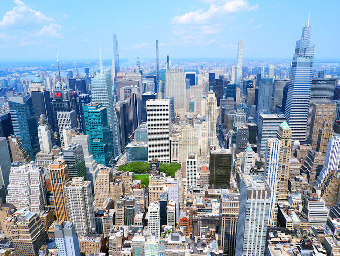 Empire State Building Tickets - View Uptown Manhattan
