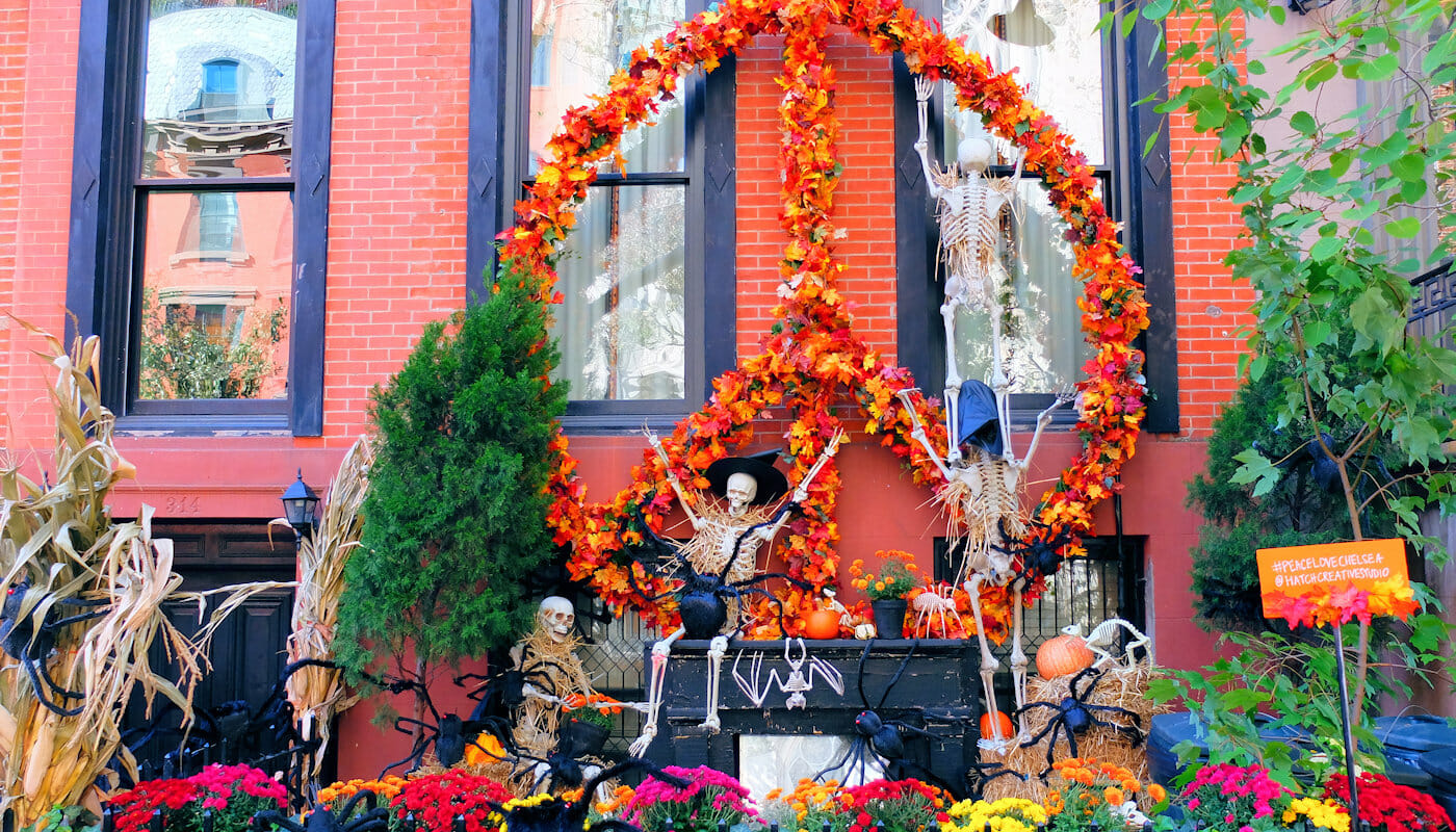 Halloween in New York - Decorated House