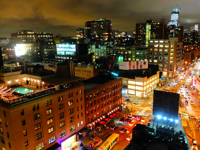 Rooftop Bars in New York - View from Gansevoort Hotel