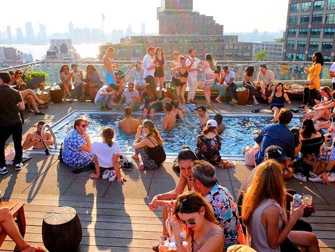 The Best Rooftop Bars of New York - The Pool
