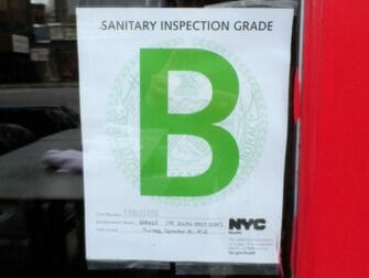 Grade B Restaurant in New York