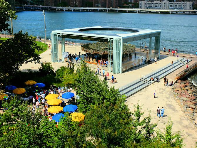Brooklyn Bridge Park in New York Janes Carousel 1