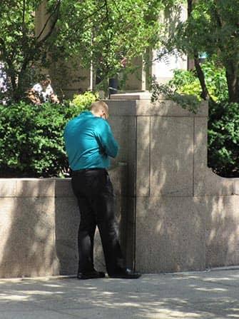 Smoking in NYC - Man Smoking