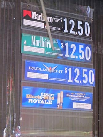 Smoking in NYC - Prices