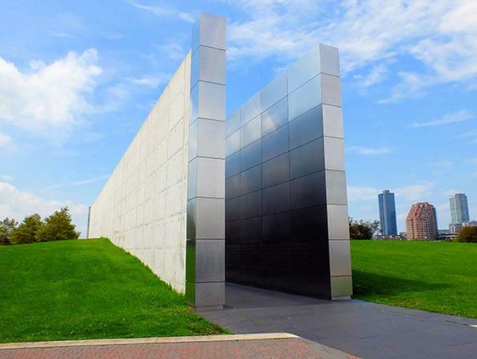 Empty Sky Memorial in New Jersey - Side View