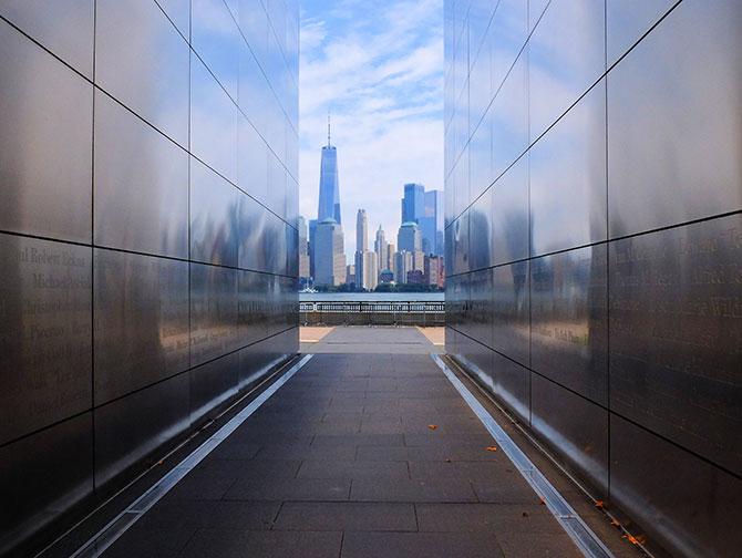 Empty Sky Memorial in New Jersey - Skyline View