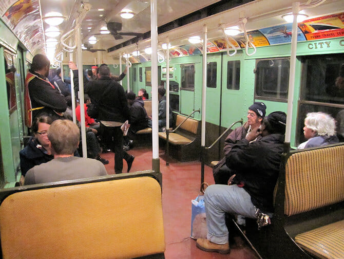 Vintage Trains in NYC - Interior of Train