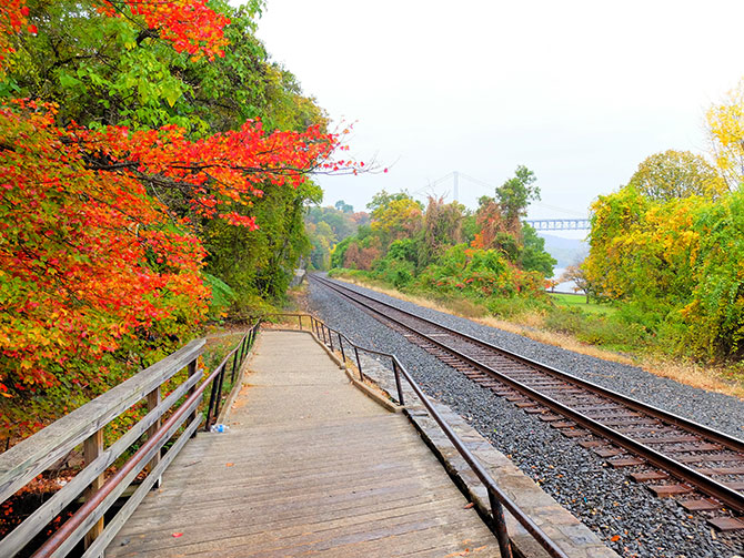 Daytrip to Bear Mountain in New York - Train Track