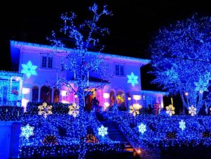 Dyker Heights Christmas Lights - Blue Lights