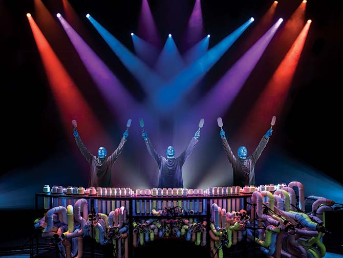 Blue Man Group in New York tickets - Drums