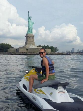 Swimming in New York - jetski