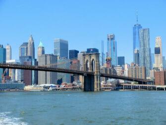 NYC Ferry in New York - Brooklyn Bridge