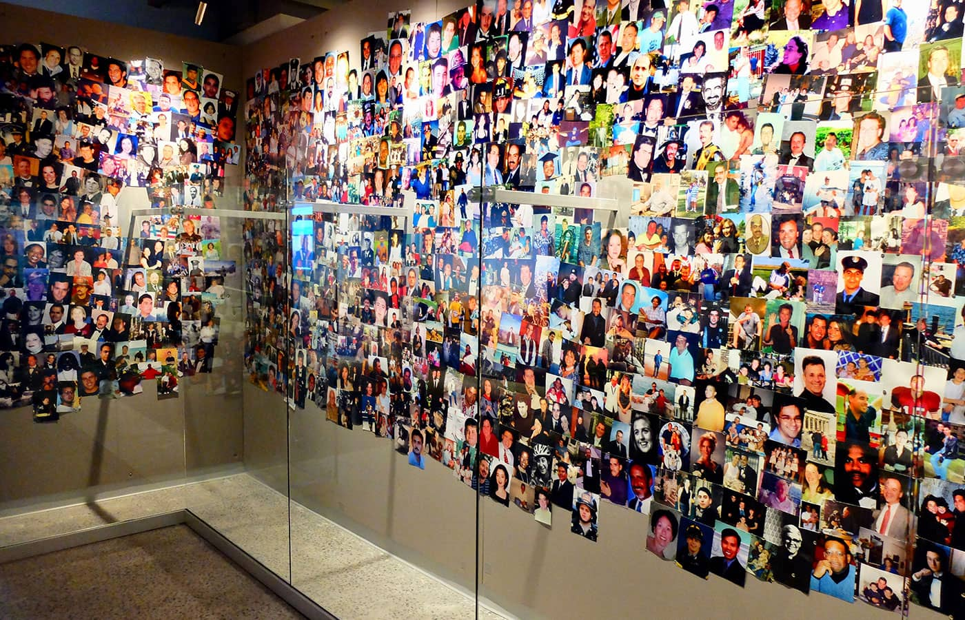 911 Tribute Museum in New York - Photo Wall