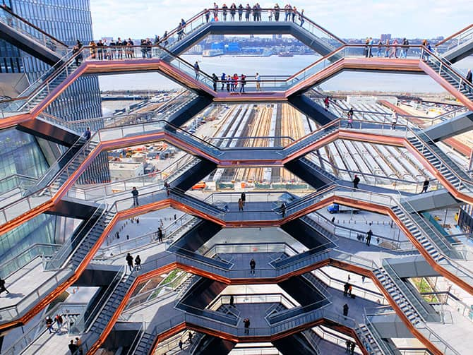 Hudson Yards Vessel in New York - View from Vessel