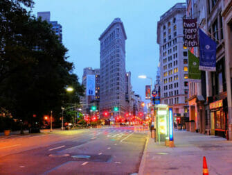 Flatiron Building in New York At Night