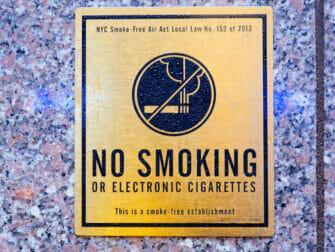 Smoking in New York No Smoking
