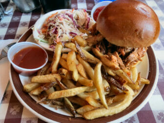 Typical American Food in New York BBQ