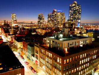 Williamsburg in Brooklyn Night at Rooftop