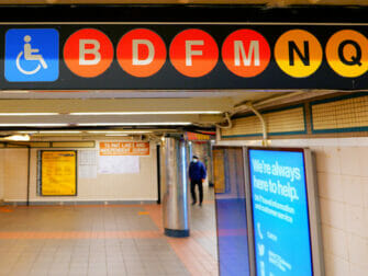 Facilities for Disabled People in New York Subway