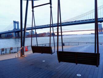 Manhattan Bridge in New York View