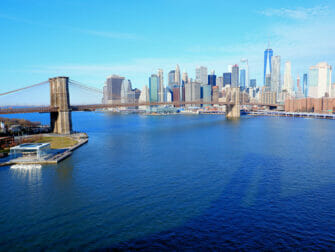 Manhattan Bridge in New York View of the Bridge