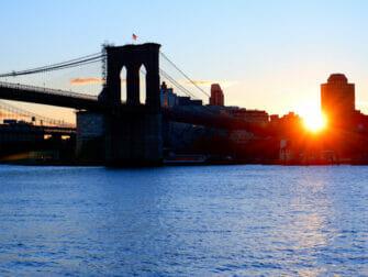South Street Seaport in New York Brooklyn Bridge