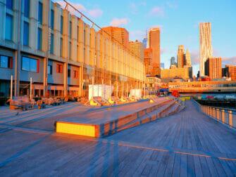 South Street Seaport in New York Sunrise