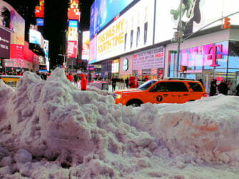 Snow in New York - Times Square